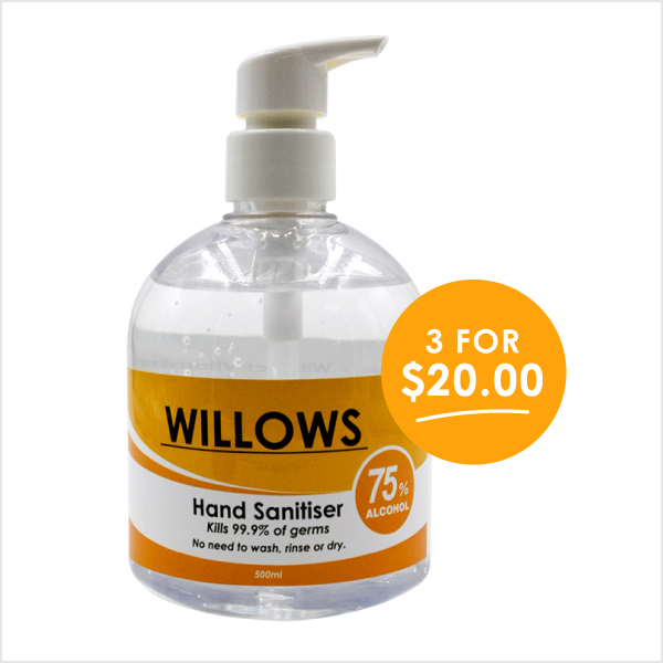 Willows 500ml Hand Sanitiser