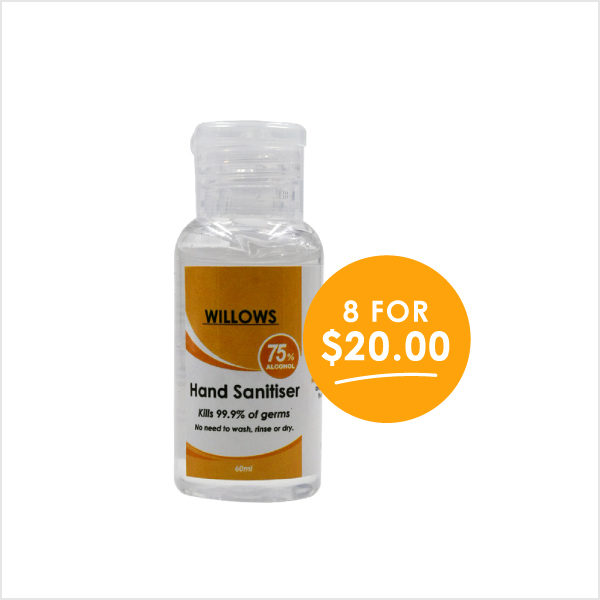 Willows 60ml Hand Sanitiser
